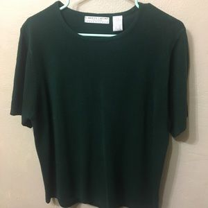 Carolyn Taylor Essentials Hunter Green Sweater